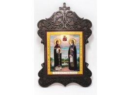 Икона резная с крестом