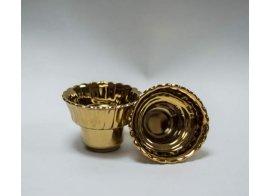 Стаканчик рифленый золотой